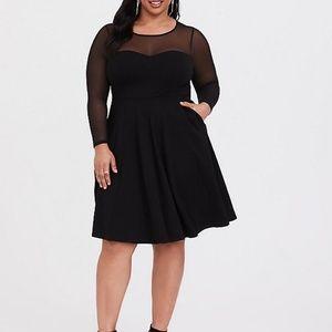 Brand New Skater Dress Black